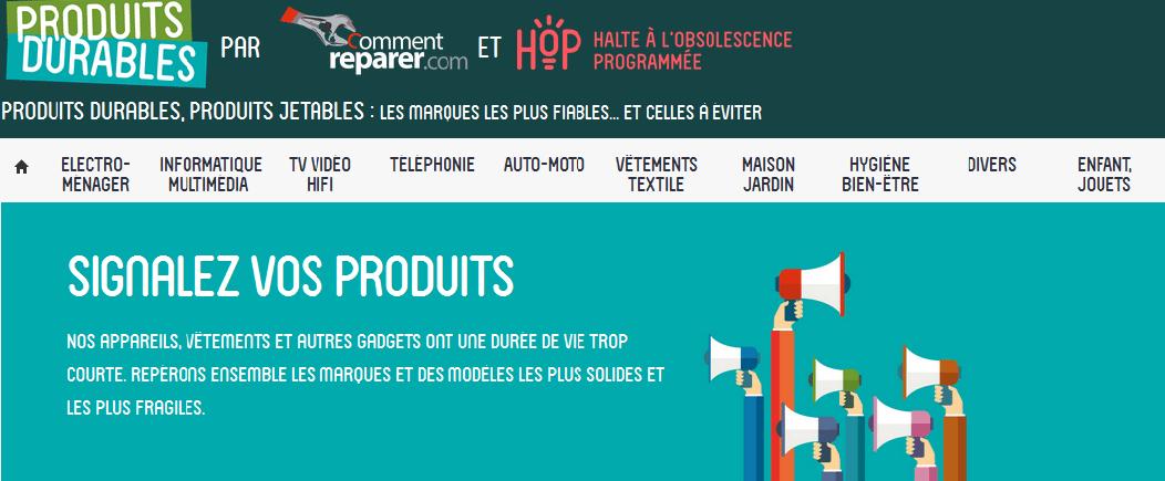 Un site pour signaler l'obsolescence programmée : produitsdurables.fr