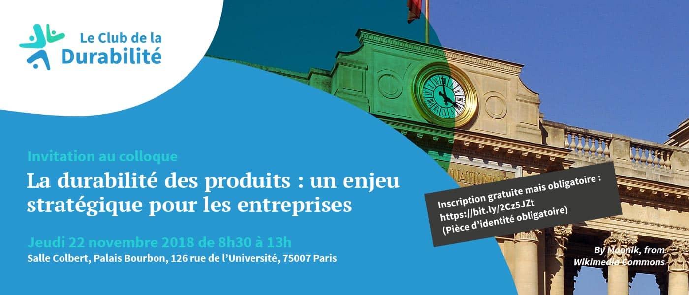Colloque du 22 novembre sur la durabilité des produits !
